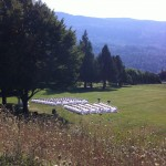 Outdoor wedding in Yarrow Community Park
